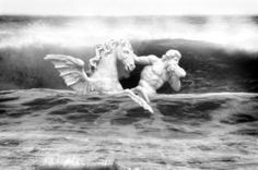 Triton monochrome - Limited Edition 1 of 10 Photograph Digital Photography, White Photography, Classical Mythology, Winged Horse, Trevi Fountain, Buy Art, Paper Art, Saatchi Art, Monochrome