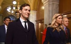 On the go: Ivanka Trump and Jared Kushner arrived at the Capitol hand in hand ahead of her father Donald's inauguration