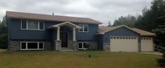 Maple Grove/Plymouth - Split level Remodel - New front entry, garage, stone windows and siding