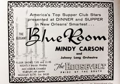 New Orleans' Historical Hotel Dining Rooms: The Roosevelt || HotelChatter