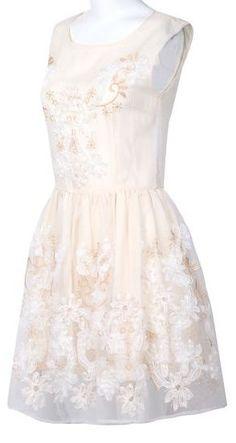 Apricot Flare Dress ღ