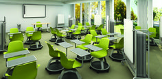 NODE CHAIR FOR STEELCASE by IDEO: A reconfigurable seat that complements the way students learn — and the tools they use. | Click image to read article. / Cliquez sur l'image et lisez l'article. | #C2MTL #IDEO