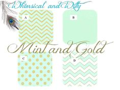 Mint and Gold Baby Crib Bedding - Bumpers, Sheet, Skirt, Blanket on Etsy, $28.00