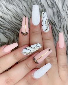 The Best Pink and White Nails | Looking for marble nail designs or marble nails acrylic or marble nails ideas or marble nail art and marble colors or color nail designs bright colors, nail designs 2021 trends? Find white marble nails long, cute pink marble nail designs, marble nails coffin long, marble nails, pink nails acrylic short, cute marble nails #marblenailsdesigns #marblenailart #marblenailartdesigns #coffinnails #whitenails #pinkmarblenaildesignsn #pinkcoffinnails #pinknails Marble Nail Designs, Marble Nail Art, Best Nail Art Designs, Short Nail Designs, Pink Marble, Halloween Nail Designs, Halloween Nail Art, Easy Halloween, Easy Nail Art