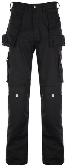Heavy Duty CORDURA Work Trouser Triple Stitched with Brass YKK Zip Black - Regular Leg: Amazon.co.uk: Clothing