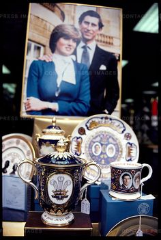 Trinkets in honor of the Royal Wedding of Prince Charles and Lady Diana.