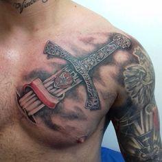 Rune Tattoo, Sword Tattoo, Great Tattoos, Tattoos For Guys, Polish Tattoos, Forearm Tattoo Men, Tattoo Models, Tatoos, Tatting