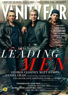 Daniel Craig, George Clooney and Matt Damon on the cover of Vanity Fair 2/2012