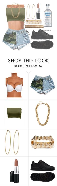 """"""""""" by ayeesabrina ❤ liked on Polyvore featuring H&M, Social Anarchy, MAC Cosmetics and adidas"""