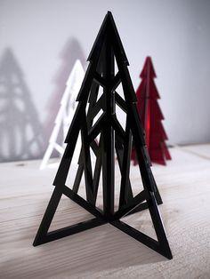 Geometric Xmas Tree - albero di Natale in plexiglass nero lasercut