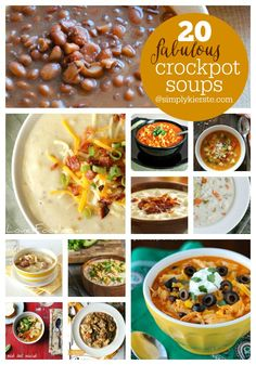 Look no farther! I've gathered 20 Fabulous Crockpot Soup Recipes perfect for Fall & Winter days! Just put it in your crockpot and forget it until dinner!