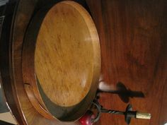"""Antique 1800s New England """"Shaker"""" Large Wooden Pegged Bentwood Band Serving Tray"""