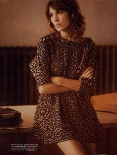 Alexa Chung in Sea NY for Stylist Magazine, makin' leopard print look soft and romantic? Like can I also learn to do this?