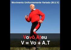 FÍSICA (Movimento Uniformemente Variado - M.U.V): Fórmula usada para medir a velocidade final, inicial, tempo de deslocamento ou aceleração de um corpo no Movimento Uniformemente Variado (M.U.V), ou movimento acelerado