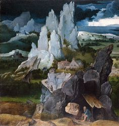 Joachim Patinir.... St. Jerome in a rocky landscape... Or as i call it: Rock & peacefully  Circa 1515-1524