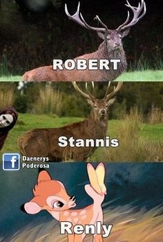 ROBERT, STANNIS AND RENLY Laughed way too hard at this!!!
