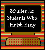 great site with loads of ideas for kids who finish quickly