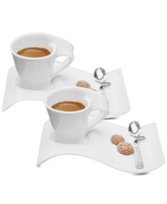 Villeroy & Boch Set of 2 New Wave Caffe Espresso Cups and Saucers | macys.com