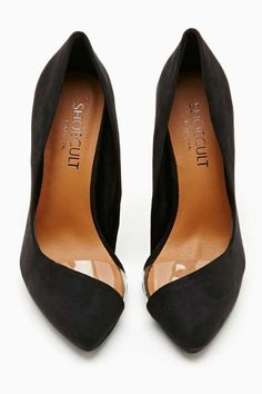 Shoe Cult Clear path black pump