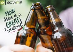 The beginning of new life for another week ahead. Weekend Vibes, Happy Weekend, Beer Bottle, Relax, Life, Keep Calm