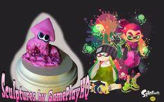 Nintendo Splatoon Figurine Collectable Hot Pink Squid Form Hand Made  Sculpture