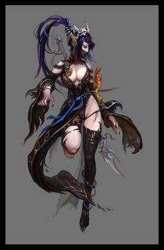 Witch Picture  (2d, fantasy, witch, girl, woman, elf, warrior)