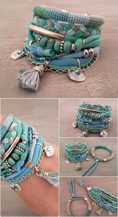 Turquoise Bracelet Gypsy Bracelet Seafoam by vanessahandmade