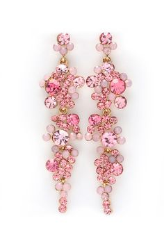 Sugary Crystal Aria Earrings , www.CheapMichaelKorsHandbags#com, louis vuitton leather handbags