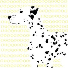 ERIC The designer only uses the black dots and yellow circles to draw the Dalmatian. The principles of Gestalt law are used well in this image such as similarity and proximity. People recognise the Dalmatian by their black spots; the designer uses these dots as the spots, eyes, and ears. The curved line of the nose has a strong influence and gives the idea of the dog.