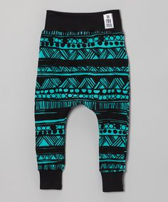 Take a look at this theMINIclassy Black & Teal Midnight Marauder Pants - Infant, Toddler & Girls on zulily today!