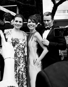 Mads with wife, Hanne and daughter, Viola. Academy Awards 2014. www.mads-mikkelsen.net