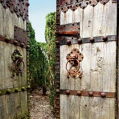 Mysterious Maze Gate - Choose the Perfect Garden Gate - Southern Living / Seven Feet tall but mountain on a frame that brings them level with the 8-foot-tall maze hedges, the doors once led into a residential garden in China.
