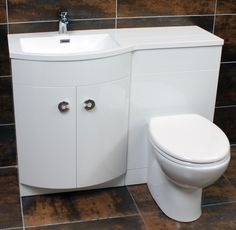 Lavatory, Furniture Sets, White Gloss, Toilet, Furniture, Vanity Set, Bathroom Units, Basin, Bathroom