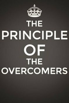 the principle of the overcomers - An overcomer overcomes everything that replaces Christ and is against Him. They are a small number of people – as Zion is small in the midst of the large city of Jerusalem – who care for God's heart desire and are one with Him to fulfill it at the cost of their life. More via, www.agodman.com