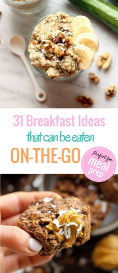 Delicious, healthy, easy, on the go breakfast recipes. Perfect for meal prepping!                                                                                                                                                     More