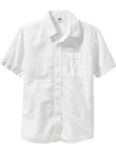 Boys Textured Seersucker Shirts   Old Navy