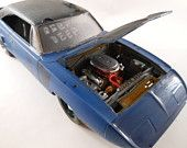 1970 Plymouth superbird 1/24 scale model car in blue - $77.50