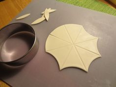 cutting gumpaste umbrella - For all your cake decorating supplies, please visit craftcompany.co.uk