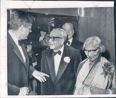 1961 India Ambassador MC Chagla & Wife With President Kennedy.