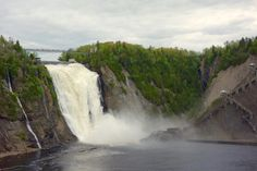 Montmorency Falls Quebec is one of the Quebec City's top attractions. From sightseeing to extreme adventures, here's everything you need to know. Quebec City, Wanderlust Travel, Playground, Skiing, Travel Tips, Waterfall, Scenery, Lost, Adventure