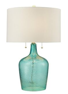 Hatteras Seabreeze Glass - Lamp Stunning - coastal living decor at its' finest!