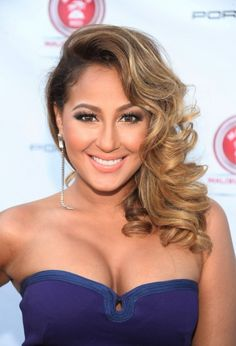 long wavy hairstyles Adrienne Bailon hairstyles