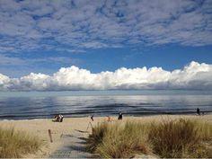 Urlaub auf Usedom: Spätsommer am Strand von Kölpinsee.
