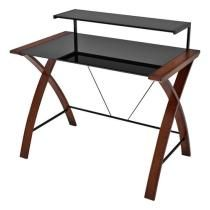 Z-Line Designs - Florentina Main Desk - Cherry/Black BBY