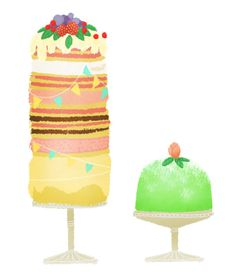 Cake illustration by Ditte Brøns-Frandsen