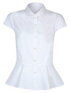 Girls School Peplum Shirt | School | George at ASDA