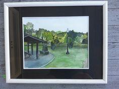 Forest Hill Park; Original Watercolor. For sale.