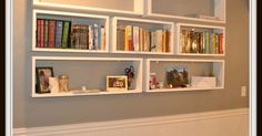 Floating Bookshelves | Crafts, Much! and Floor space