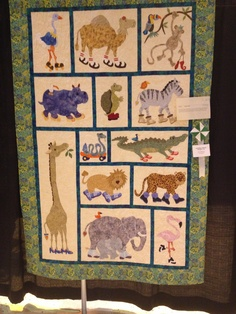 A baby quilt for our friends in Colorado - their nursery had a ... : jungle theme baby quilt patterns - Adamdwight.com