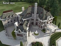 Majestic Storybook Castle - 12013JL | European, Luxury, Photo Gallery, Premium Collection, 1st Floor Master Suite, Bonus Room, Butler Walk-in Pantry, CAD Available, Courtyard, Den-Office-Library-Study, Drive Under Garage, Elevator, In-Law Suite, Loft, MBR Sitting Area, Media-Game-Home Theater, Multi Stairs to 2nd Floor, PDF, Corner Lot, Sloping Lot | Architectural Designs